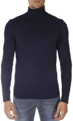 Calvin Klein Navy Wool Turtle Neck Sweater