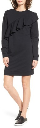 Women's Love, Fire Ruffle Sweatshirt Dress $45 thestylecure.com