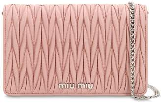 Miu Miu Small Delice Quilt Metallic Leather Bag