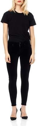 Hudson Black Velvet Ankle-Skinny
