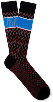 Prada Logo-Jacquard Virgin Wool Socks