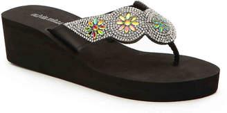 Olivia Miller Jewel Wedge Flip Flop - Women's