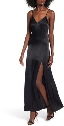 Women's Leith Satin Maxi Dress $85 thestylecure.com