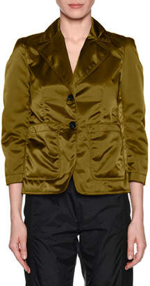 No.21 No. 21 Salvia Quilted Button-Front Blazer Jacket