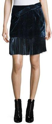 3.1 Phillip Lim Sculpted Velvet Mini Skirt, Sapphire $750 thestylecure.com