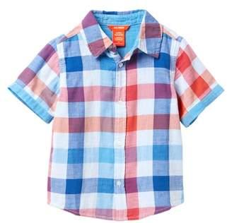 Joe Fresh Short Sleeve Double Gauze Shirt (Toddler & Little Boys)