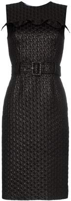 Prada ruffle detail belted dress