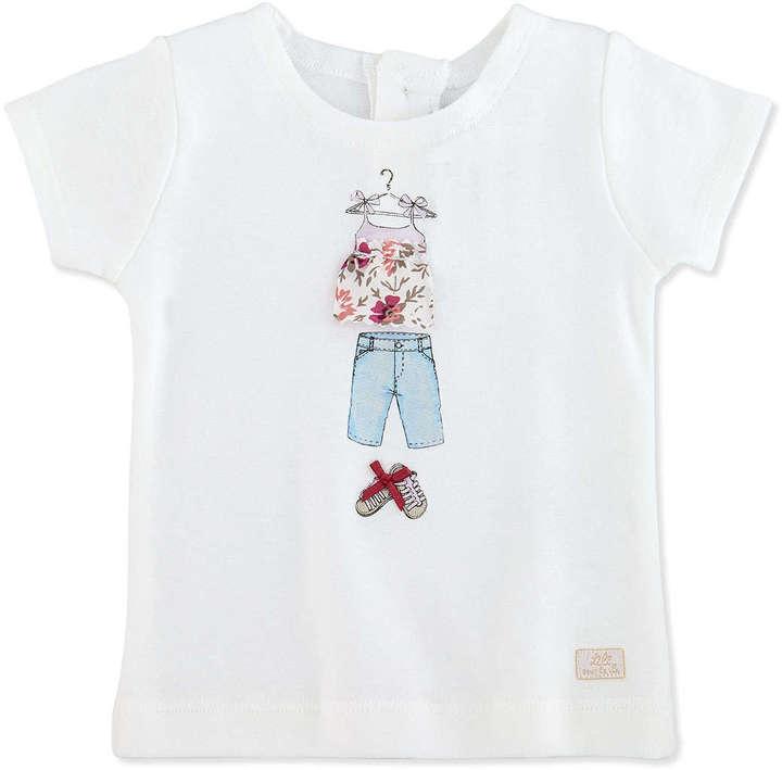 Lili Gaufrette Lauraine Short-Sleeve Graphic Tee, 3-18 Months