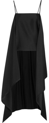 DKNY - Open-back Draped Satin Camisole - Black $300 thestylecure.com