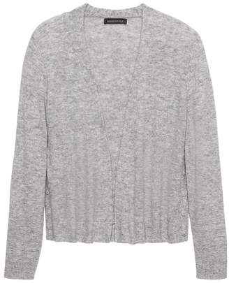 Banana Republic Aire Button-Side Cropped Cardigan Sweater