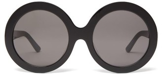 Celine Oversized Round Acetate Sunglasses - Womens - Black