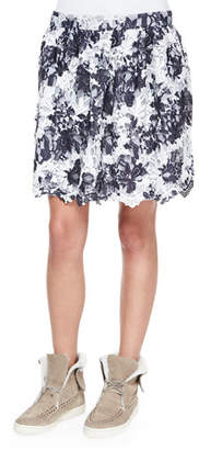 Thakoon Addition Two-Tone Lace Skirt