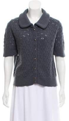 Marc Jacobs Short Sleeve Wool Cardigan