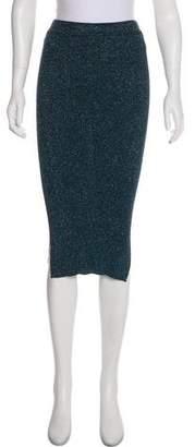By Malene Birger Metallic Knee-Length Skirt