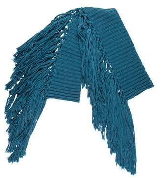Burberry Knit Fringe Scarf