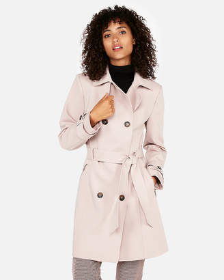 Express Petite Classic Double Breasted Trench Coat