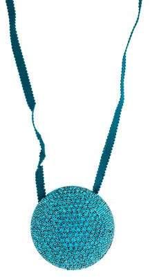 Dries Van Noten Crystal & Silk Cord Collar Necklace