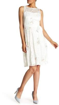 Sandra Darren Lace Floral Swing Dress