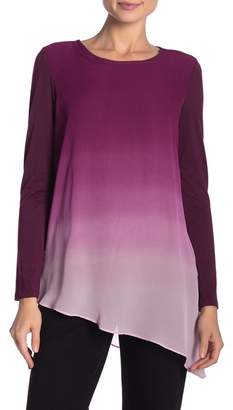 ZAC & RACHEL Long Sleeve Ombre Blouse