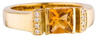 Di Modolo 18K Citrine & Diamond Band