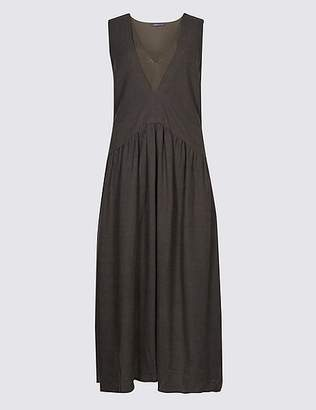 Marks and Spencer Cotton Rich Swing Midi Dress