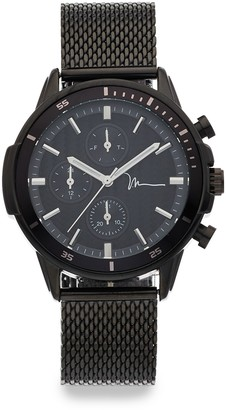 Marc Anthony Men's Black Mesh Band Watch