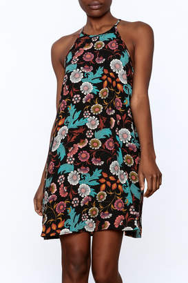 Everly Black Floral Shift