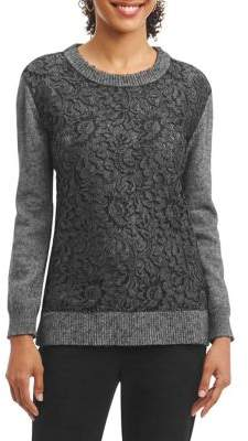 Foxcroft Embroidered Floral Sweater