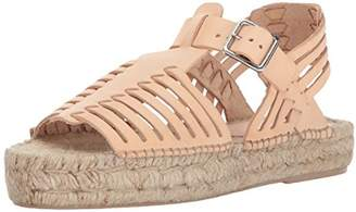Loeffler Randall Women's Reid Woven (Leather) Espadrille Wedge Sandal