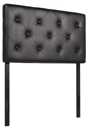 CO-Z TWIN Size Faux Leather Headboard Diamond Tufted with Button 4 Adjustable Positions, Multiple Colors