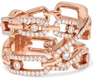 Möve Messika Addiction 18-karat Rose Gold Diamond Ring