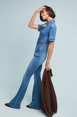 Ella Moss Collared Denim Jumpsuit