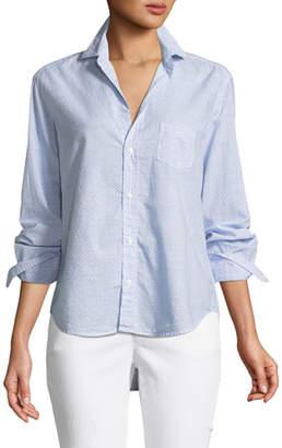Frank And Eileen Eileen Micro-Print Cotton Button-Front Shirt