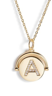 Women's Lulu Dk Love Letters Spinning Initial Necklace $68 thestylecure.com