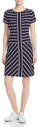 Calvin Klein Short-Sleeve Striped T-Shirt Dress $89.50 thestylecure.com