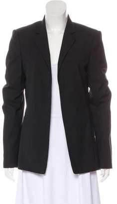 Halston Wool-Blend Open Front Blazer