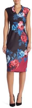 Ignite Evenings Sleeveless Floral Printed Dress