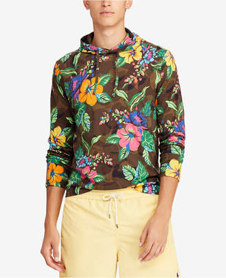 Polo Ralph Lauren Men Big & Tall Floral-Print Long-Sleeve Hooded T-Shirt