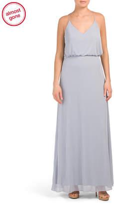 Chiffon Knit Blouson Gown