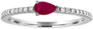 story. My Layla Ruby Ring - White Gold