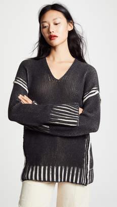 Zero Maria Cornejo Slash V Neck Cashmere Pullover