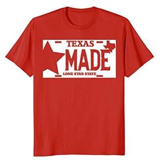 Texas Made Lone Star License Plate T-Shirt