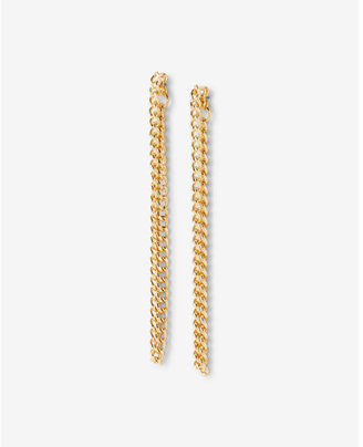 Express Chain Link Status Drop Earrings $14.90 thestylecure.com