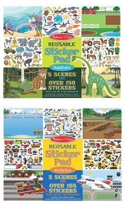 Melissa & Doug® Reusable Sticker Pads Set: Vehicles and Habitats, 315+ Stickers and 10 Scenes $9.79 thestylecure.com