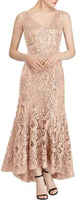 Lauren Ralph Lauren Fluted Lace Gown