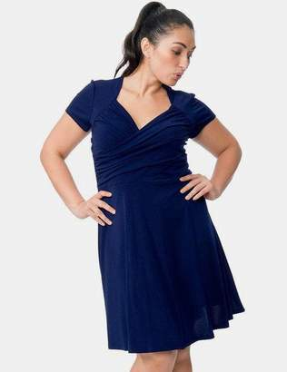 Leota Sweetheart in Classic Navy Blue Crepe Dress Size 1L Polyester