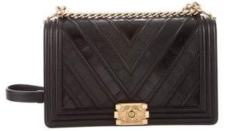 Chanel 2016 Chevron Mix Medium Plus Boy Bag