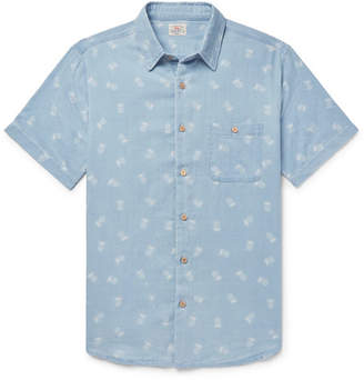 Faherty Pineapple-Print Cotton Shirt
