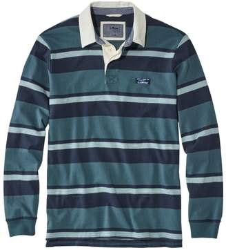 L.L. Bean L.L.Bean Lakewashed Rugby, Traditional Fit Long-Sleeve Shadow Stripe