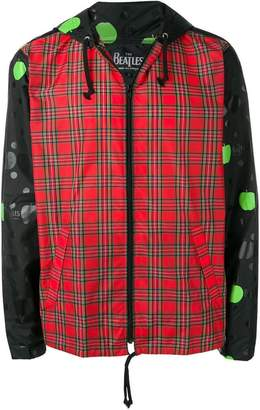 Comme des Garcons The Beatles X plaid contrast bomber jacket